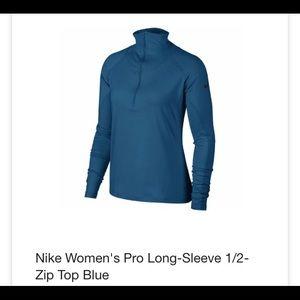 Nike pro long-sleeve half zip NWT